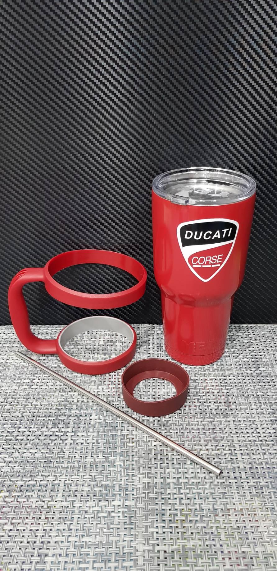 ชุดแก้วเยติ 30 ออนซ์ พื้นสีแดง โลโก้ Ducati