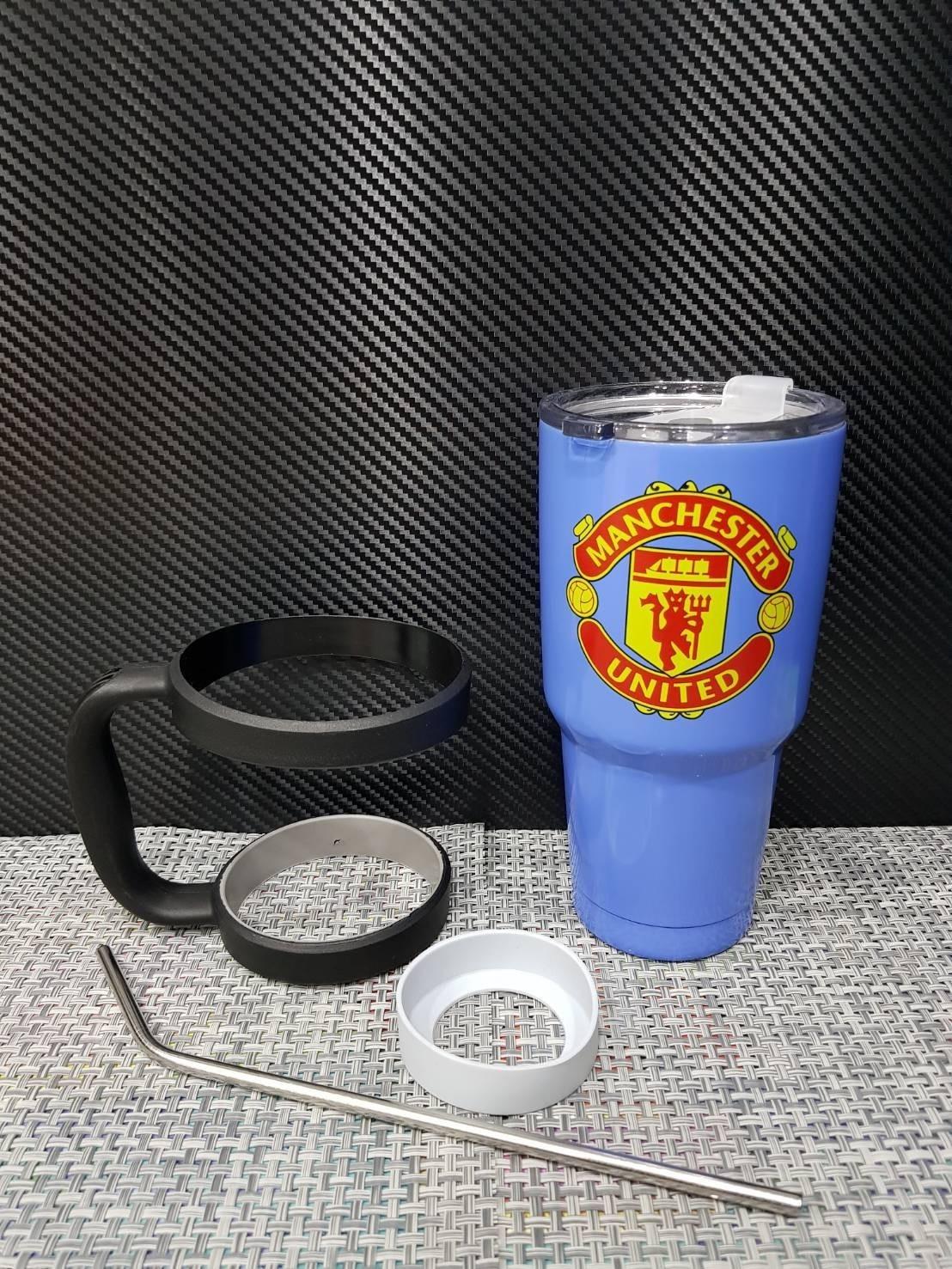 ชุดแก้วเยติ 30 ออนซ์ พื้นสีฟ้า โลโก้ แมนเชสเตอร์ยูไนเต็ด