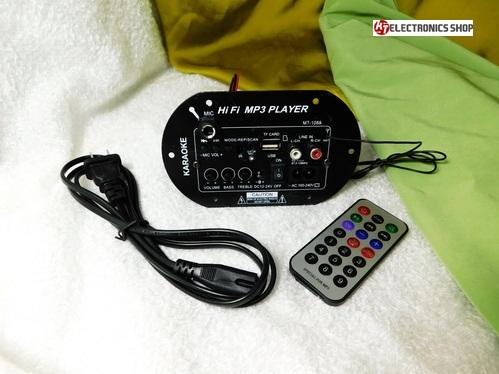 ภาคขยายเสียง คาราโอเกะ เคลื่อนที่ พร้อมเครื่องฟัง MP3 ภาครับสัญญาณ Bluetooth และ มีช่องเสียบไมค์ได่้