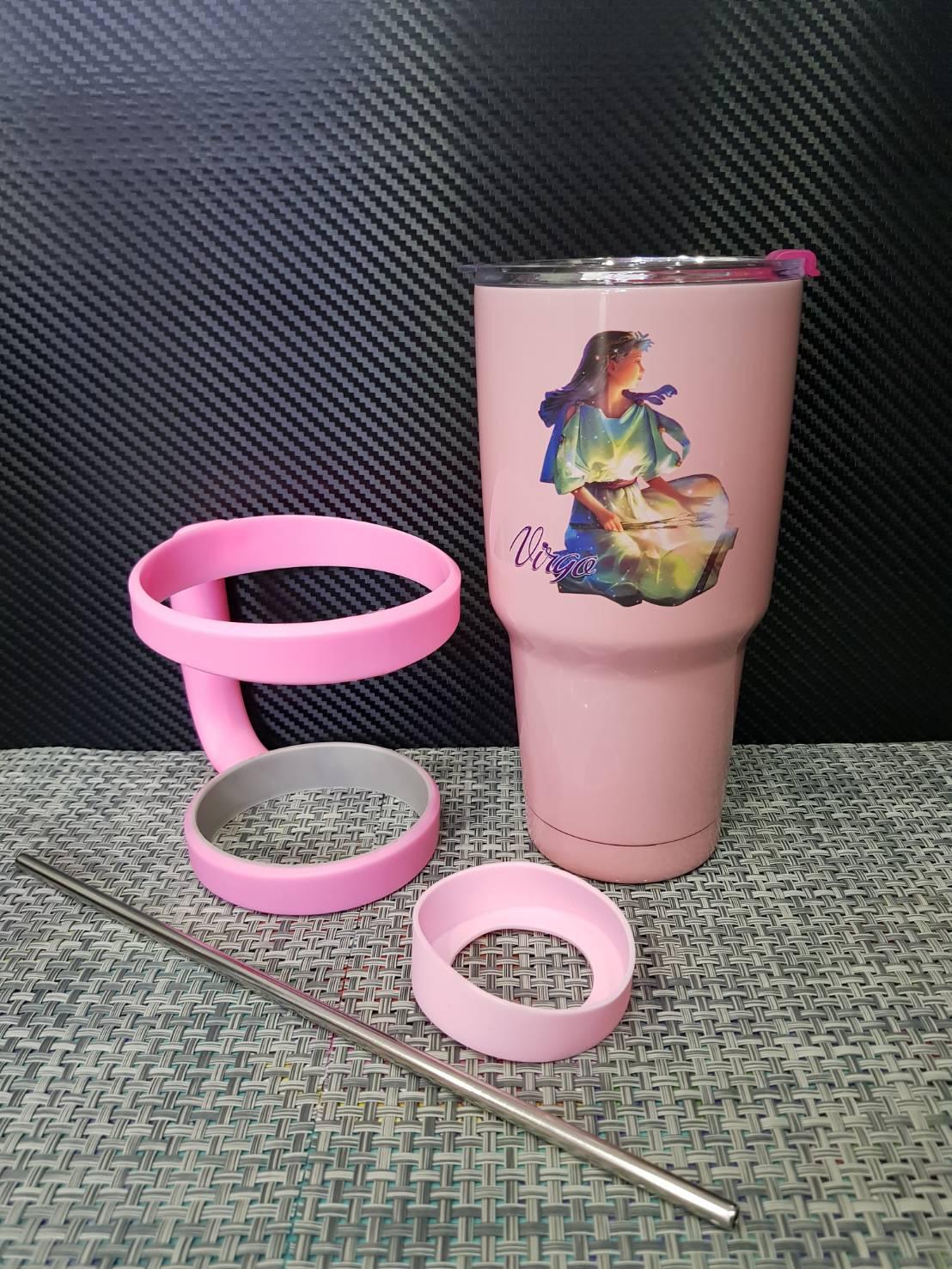 ชุดแก้วเยติ 30 ออนซ์ พื้นสีชมพู ราศีกันย์