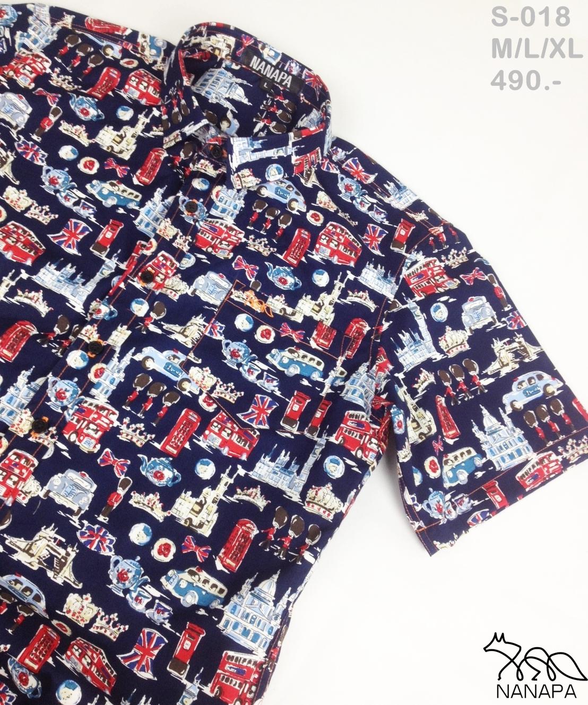 เสื้อเชิ้ตแขนสั้น ชาย NANAPA Shirts S-018