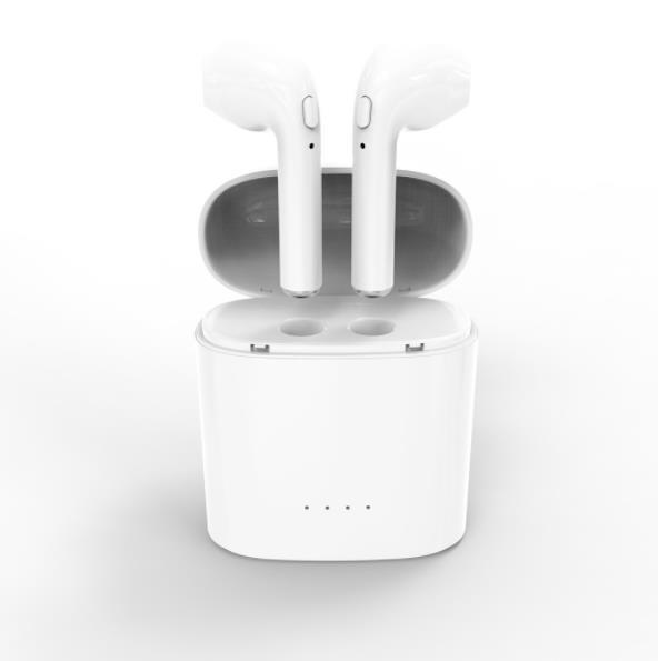 หูฟังบลูทูธ HBQ i7S TWS แบบคู่พร้อม กล่องชาร์จไร้สายเก็บไฟในตัว (สีขาว)