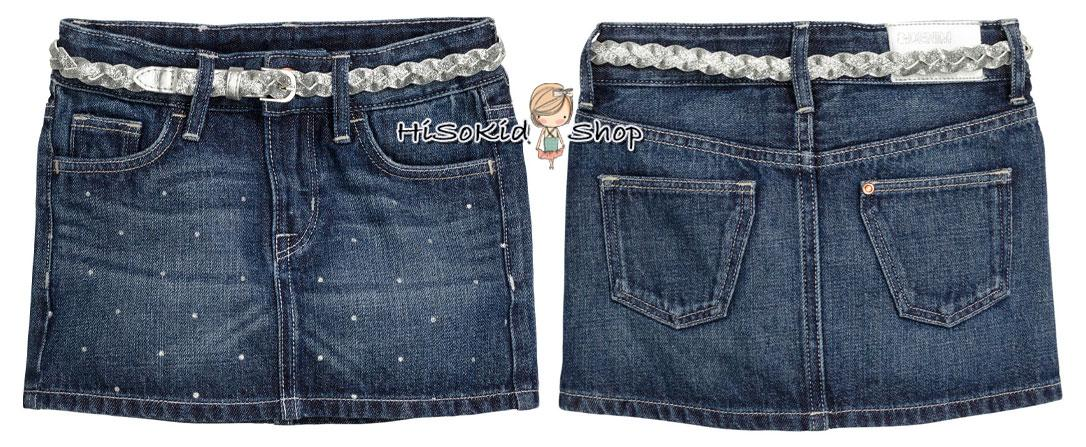 1072 H&M Jean Skirt - Blue ขนาด 8-10 ปี