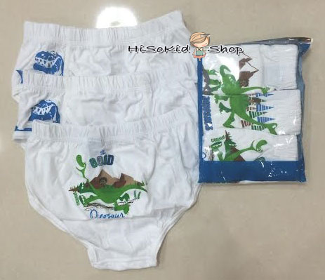 1009 Disney Good Dianosaue underwear (1 แพคมี 3 ตัว) ขนาด ML,LL