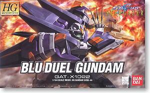 (เหลือ 1 ชิ้น รอยืนยันสินค้า) hg 1/144 44 blu duel gundam 1600yen