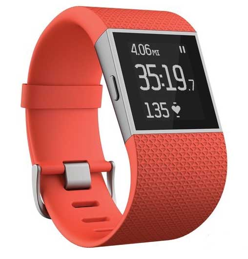 Fitbit Surge, Tangerine Small - English