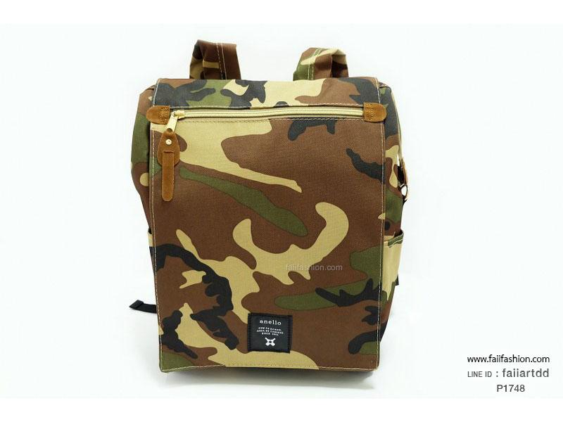 กระเป๋าเป้แฟชั่น ดีไซน์ Anello flap rucksack polyester ไซส์ 10 นิ้ว