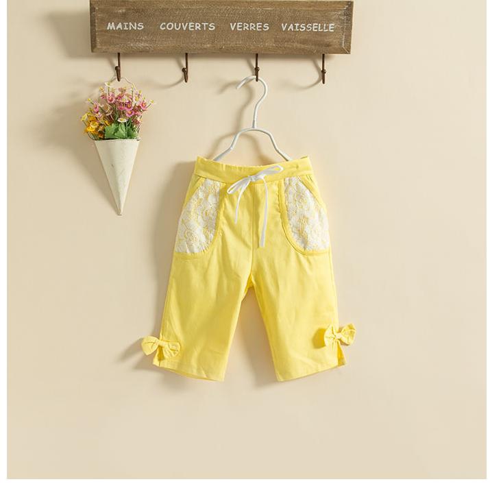 กางเกง สีเหลือง แพ็ค 5ชุด ไซส์ 100-110-120-130-140