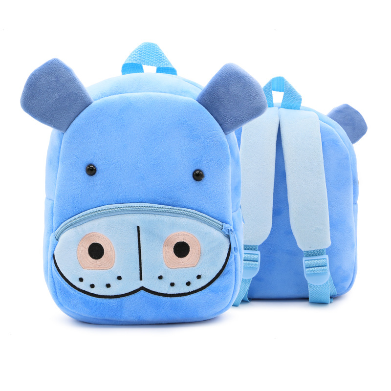 กระเป๋าฮิปโปสีฟ้า แพ็ค 3 ชิ้น