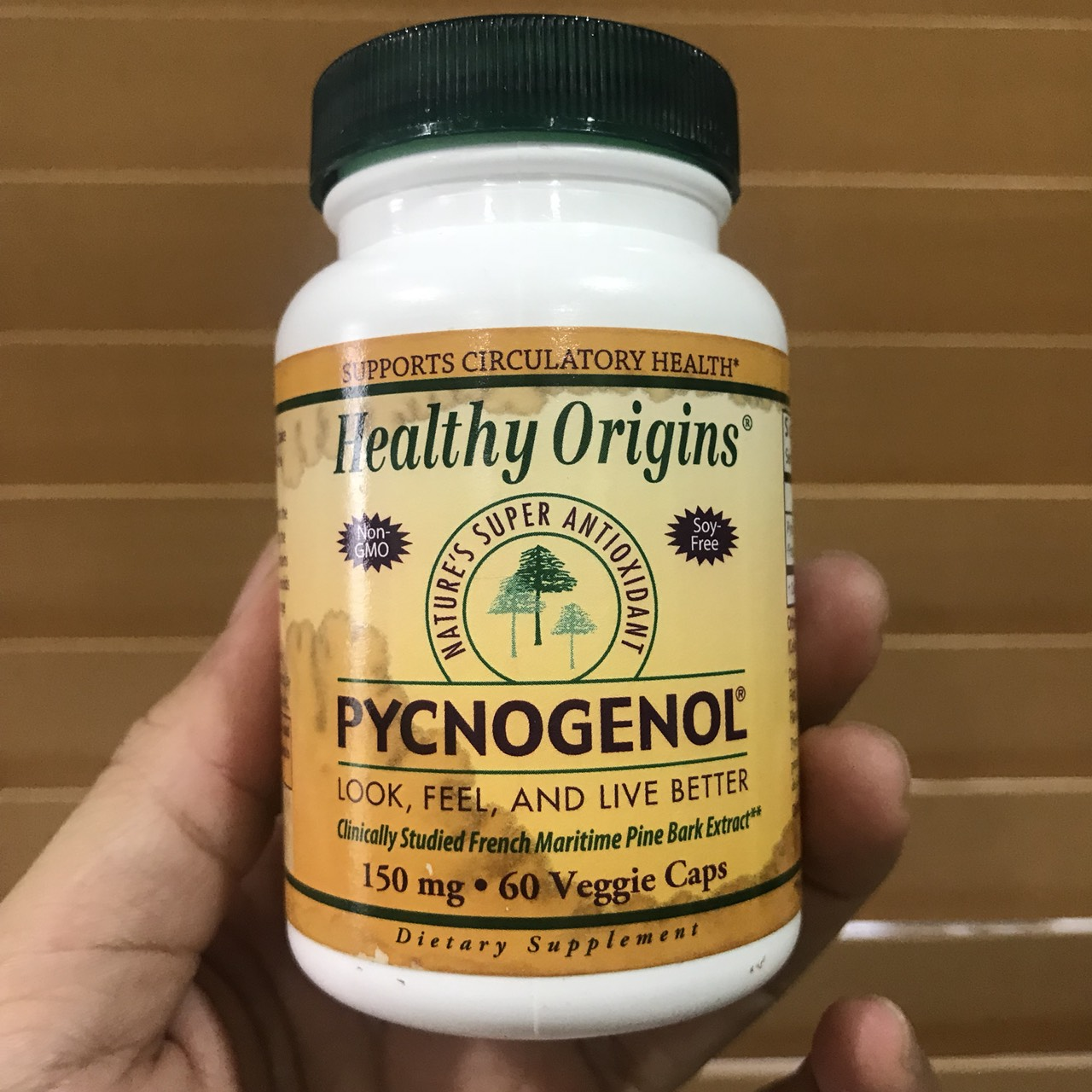 # ฉลากเปื้อน # Healthy Origins, Pycnogenol, 150 mg, 60 Veggie Caps