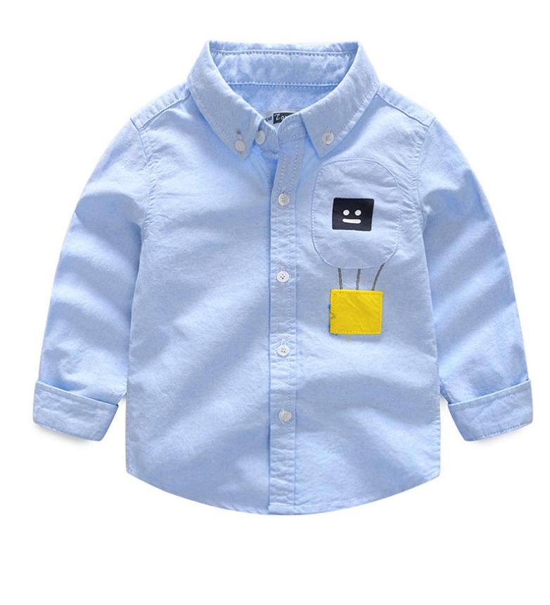 เสื้อ สีฟ้า แพ็ค 6 ชุด ไซส์ 90-100-110-120-130-140