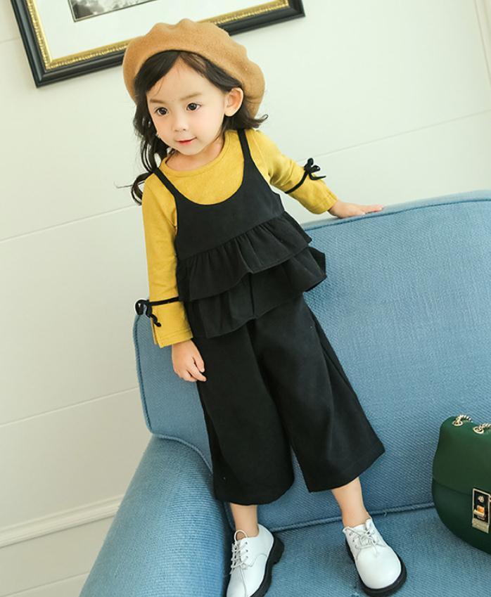 เสื้อตัวนอก+เสื้อตัวใน+กางเกง สีเหลืองดำ แพ็ค 4 ชุด ไซส์ 70-80-90-100