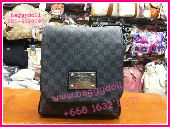 Louis Vuitton Damier Graphite Canvas Brooklyn PM,MM,GM **เกรดท้อปพรีเมี่ยม**