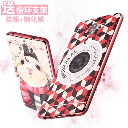 เคส Huawei Mate 9 ยืดหยุ่นขอบเงางาม ด้านหลังสกรีนลายสวยงามมาก ราคาถูก (ไม่รวมสายคล้อง)