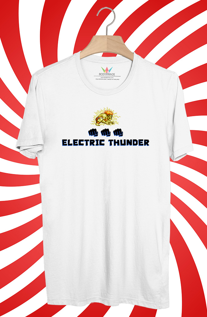 BP520 เสื้อยืด Blanka Electric Thunder