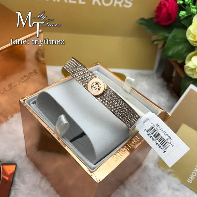 MICHAEL KORS Fulton Pave Rose Gold-Tone Bangle MKJ4000791