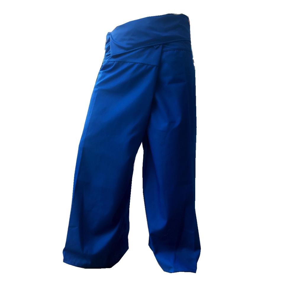 กางเกงเลน้ำเงิน กางเกงขายาว สีสดใส สวมใส่สบาย พร้อมเป็นชุดรับน้อง