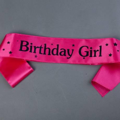 สายสะพาย Birthday Girl (สีชมพู)