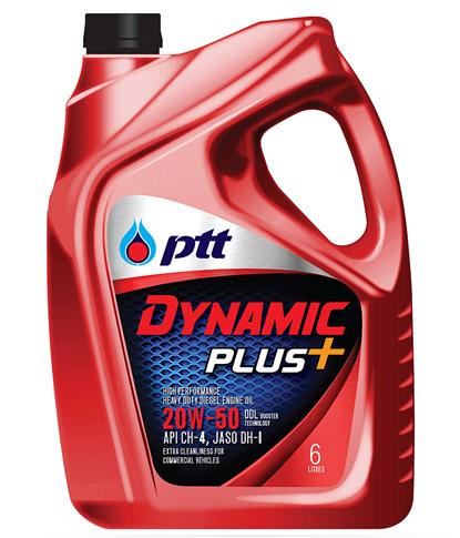 พีทีที ไดนามิค พลัส ขนาด 6+1 ลิตร (PTT DYNAMIC PLUS SAE 20W-50, API CH-4, JASO DH-1)