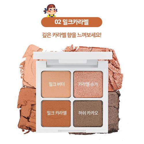 Holika Holika x Peko Chan Piece Matching 4 Shadow #02 Milk Caramel