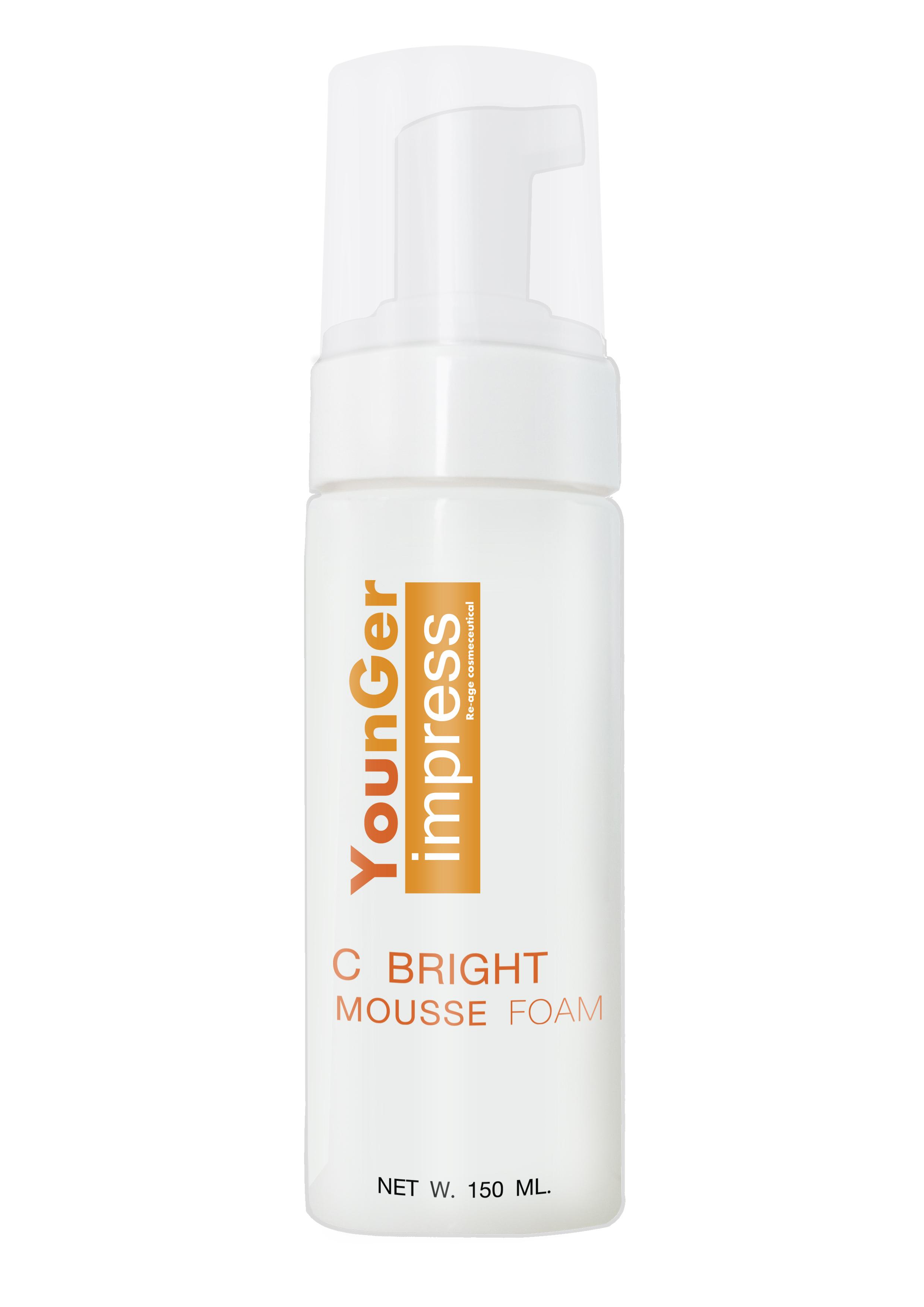 Younger Impress C Bright Mousse Foam โฟมล้างหน้า มูส Vitamin C150 ml.