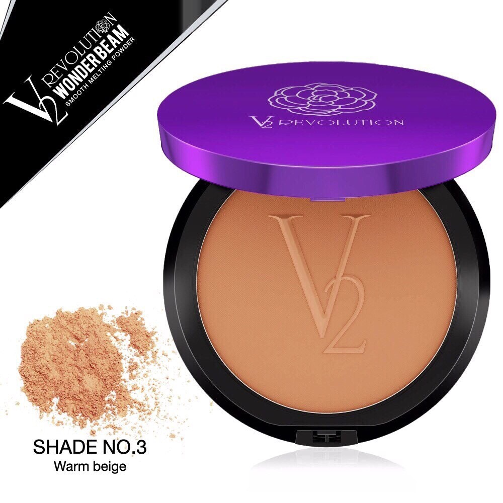 แป้ง V2 Wonder Beam Smooth Melting Powder SPF 25 PA++ (เบอร์ 03 สี Beight )