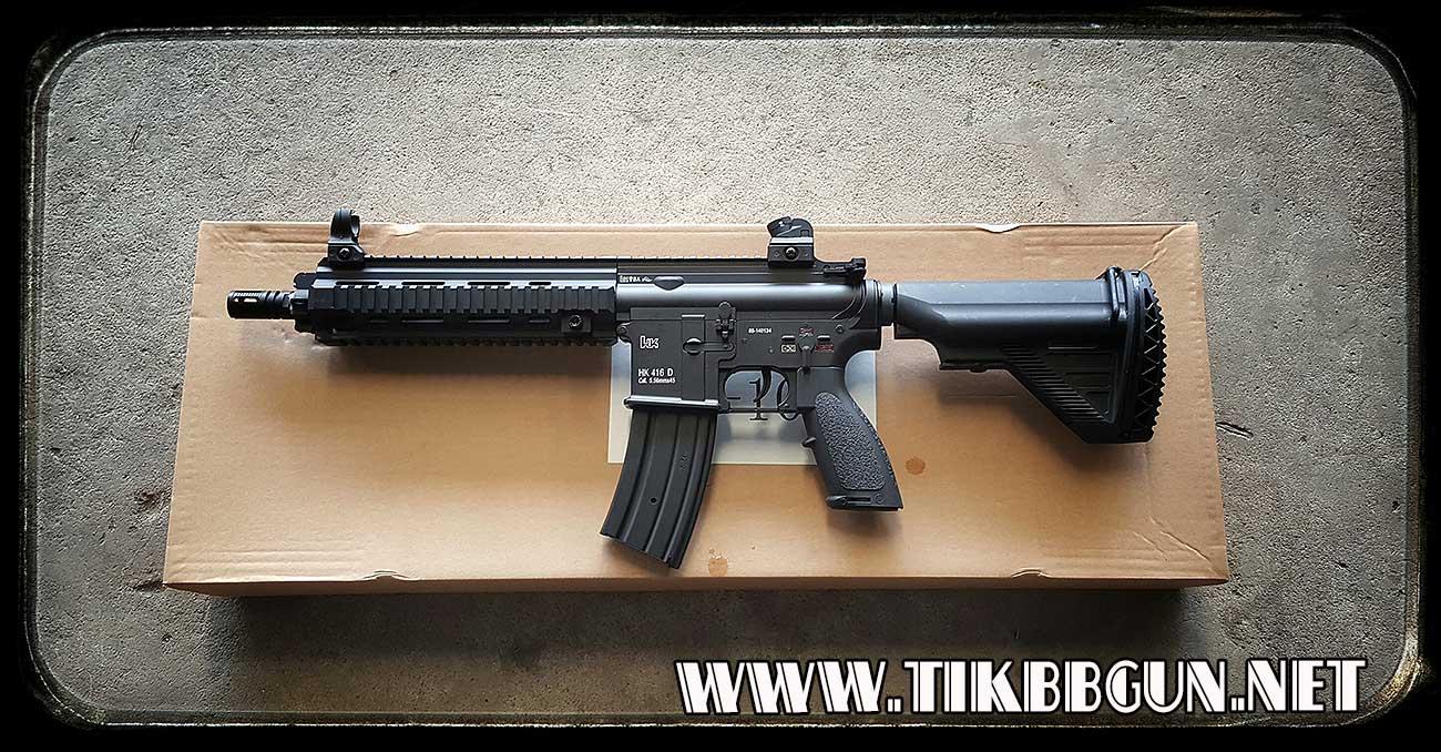 ปืนอัดลมไฟฟ้า Hk416D จาก E and C รุ่น EC102S สีดำ