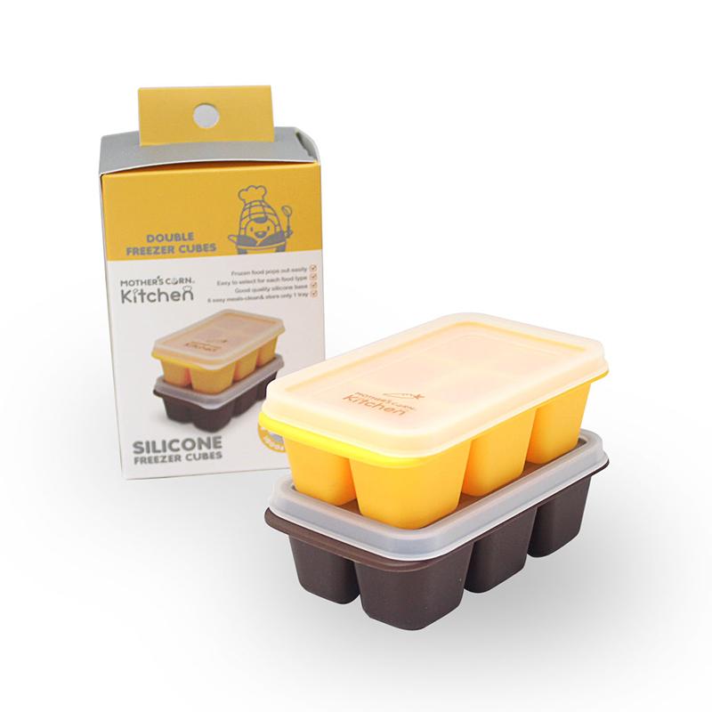 Mother's Corn Silicone Freezer Cubes ชุดถาดซิลิโคนเฟรีสอาหาร