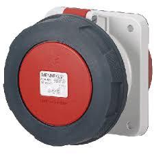 ปลั๊กตัวเมียฝัง แบบตรง ชนิดกันน้ำ IP67 125Amp ขั้ว 3+E 400V