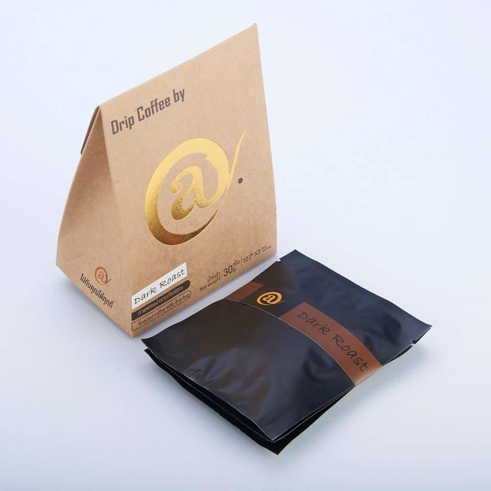 กาแฟดริป คั่วเข้ม 3 x 8 g. @y Drip Coffee 3 x 8 g. Dark Roast