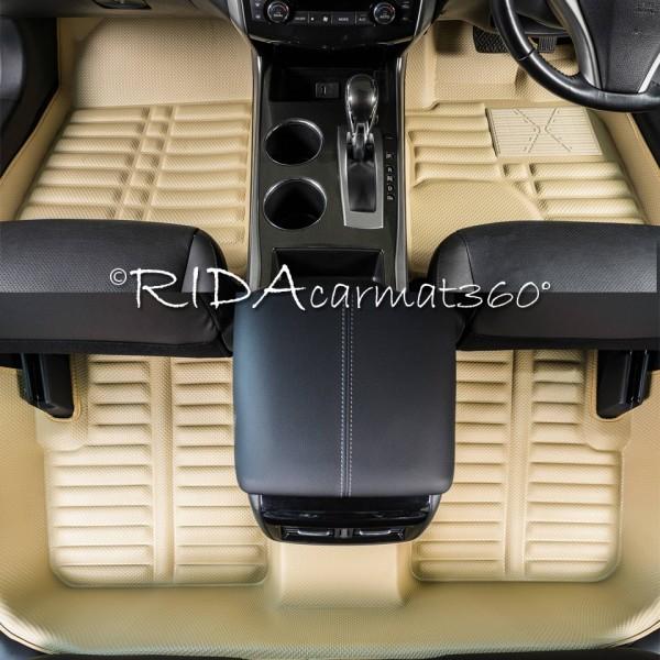 พรมปูพื้นรถยนต์ NEW ALTIS 2014 สีครีม BY RIDA CAMAT 360