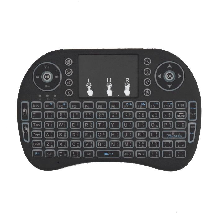 คีย์บอร์ดมินิ melon Mini Wireless Keyboard 2.4 Ghz Touchpad รุ่น MKM-110