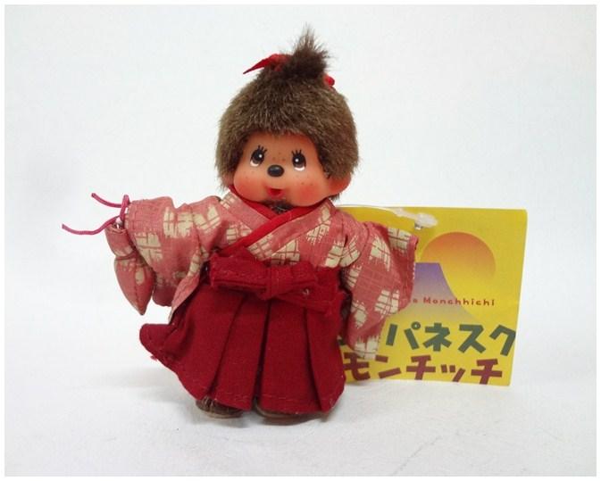 พวงกุญแจตุ๊กตา Taisho girl Monchhichi Key chain