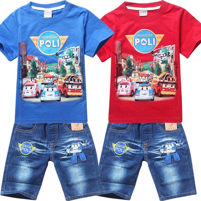 RB-001 ชุดเสื้อ + กางเกง Robocar Poli