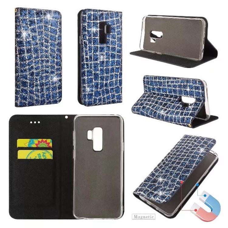 (436-427)เคสมือถือซัมซุง Case Samsung S9+ เคส Glitter เพชรสุดหรูสไตล์สมุดเปิดข้าง