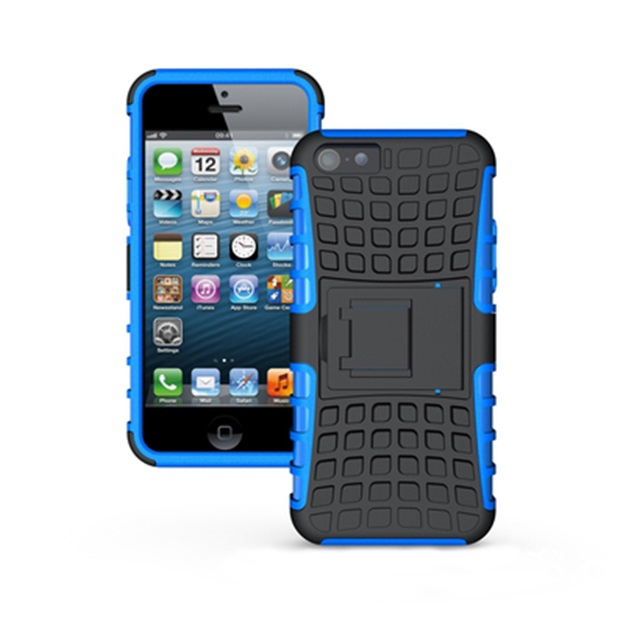 (427-005)เคสมือถือไอโฟน case iphone 5/5s/SE เคสนิ่มพื้นหลังพลาสติกแข็งขอบสีกันกระแทก
