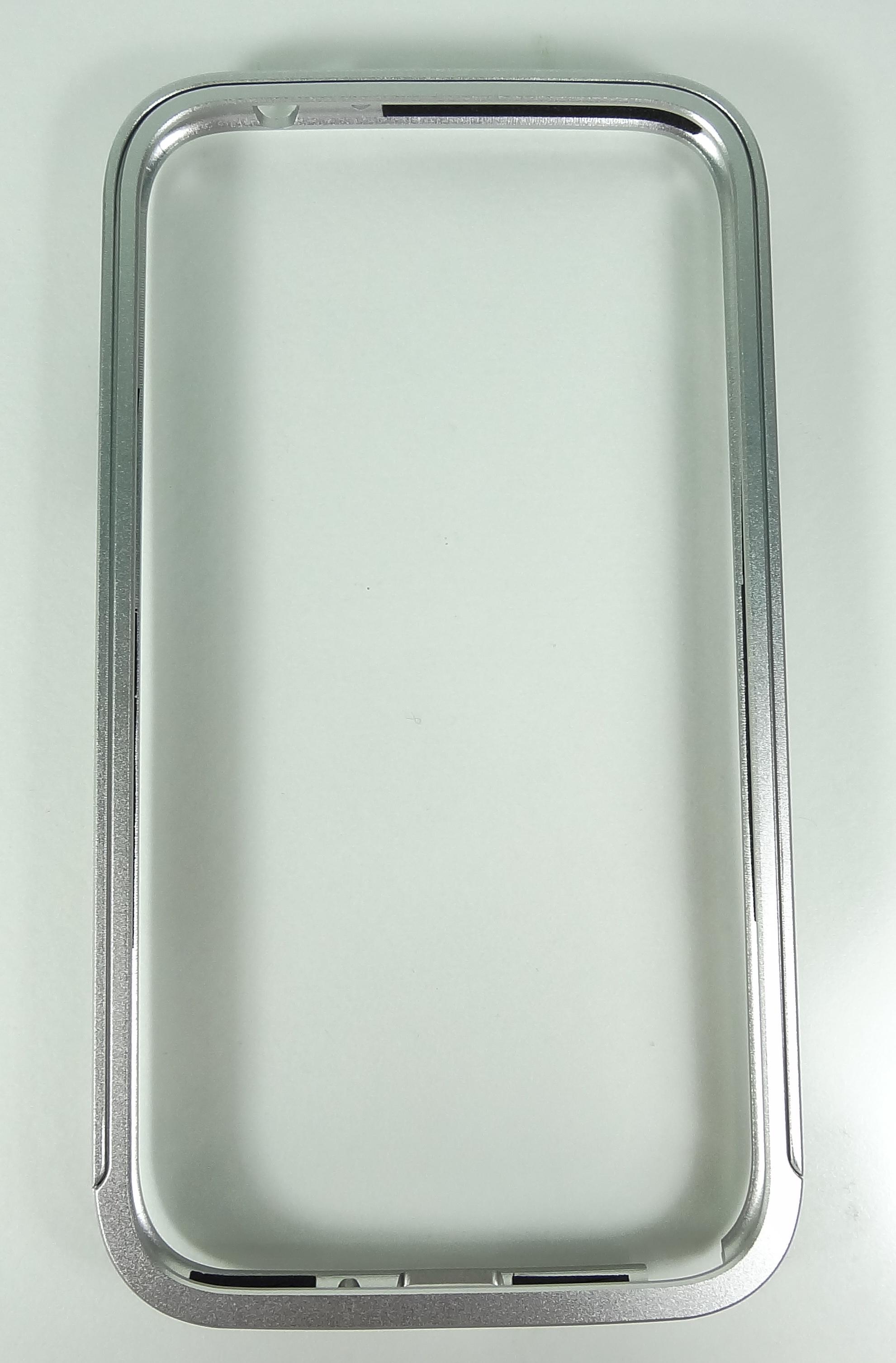 Aluminum Bumper (Silver) แบบมีปุ่มกด samsung galaxy note2