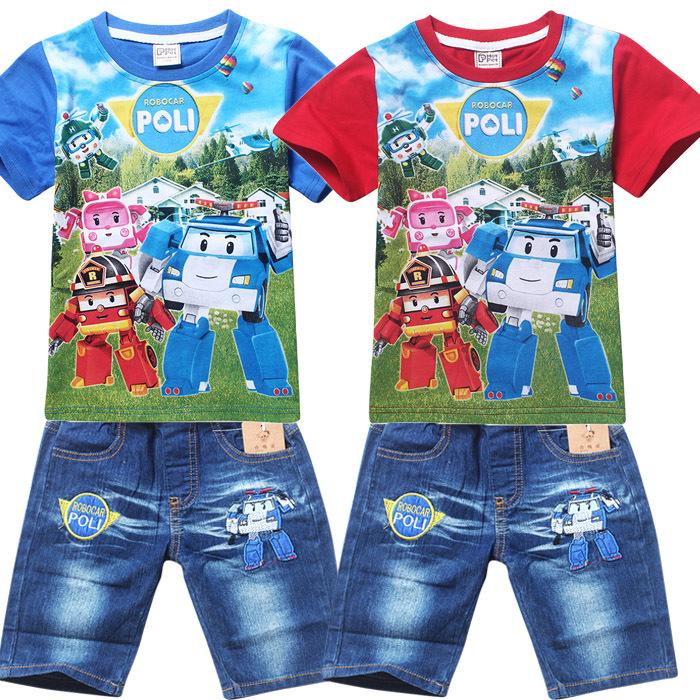 RB-002 ชุดเสื้อ + กางเกง Robocar Poli