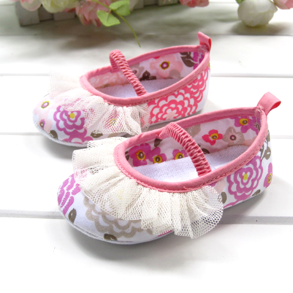 BE2033 (Pre) รองเท้าผ้า สาวน้อย (0-1 ขวบ)