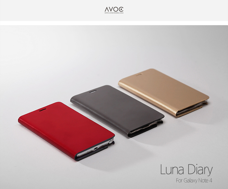 Zenus : Avoc Luna Diary Synthetic Leather Cover Case For Galaxy Note 4