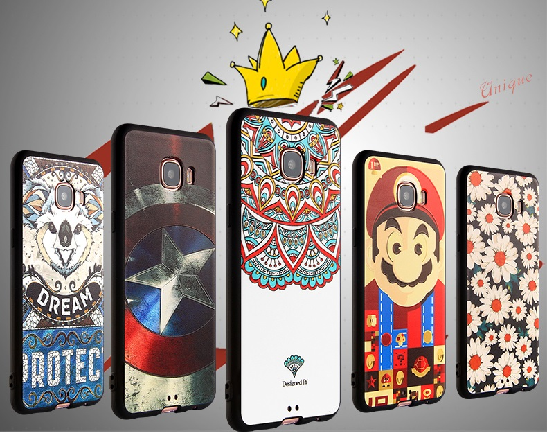 (594-002)เคสมือถือซัมซุง Case Samsung Galaxy C7 เคสนิ่มลายกราฟฟิคสวยๆ
