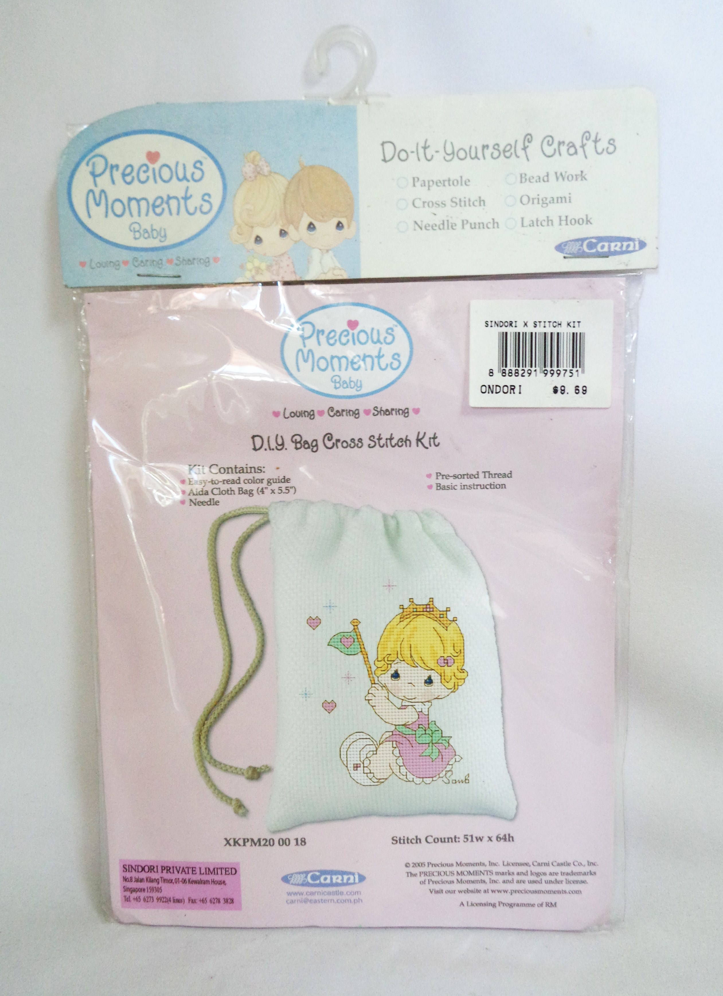D.I.Y.Bag Cross Stitch Kit - Precious Moments