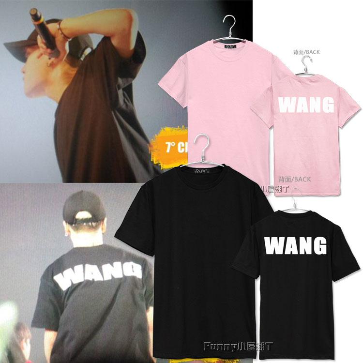 เสื้อยืด WANG In Con2016 Sty.Jackson GOT7-ระบุสี/ไซต์-