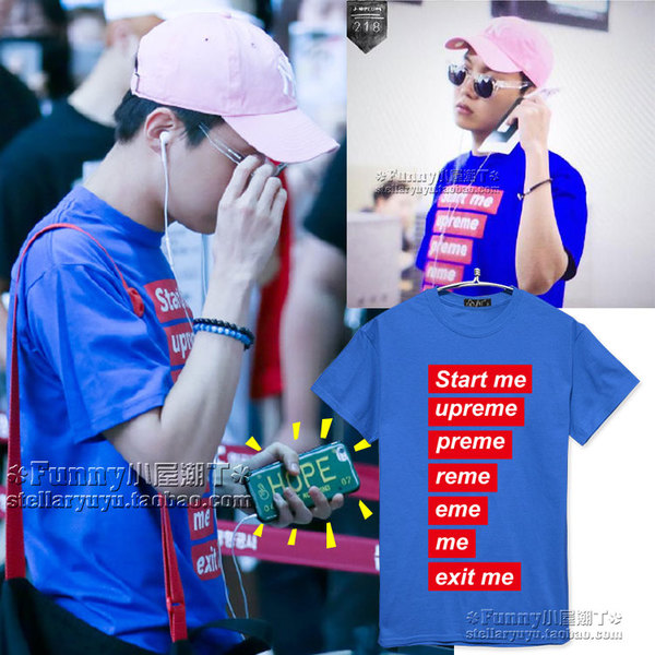 เสื้อยืด Supreme Start me Sty.J-HOPE -ระบุสี/ไซต์-