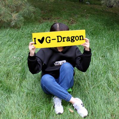 Banner Paper I LOVE G-Dragon