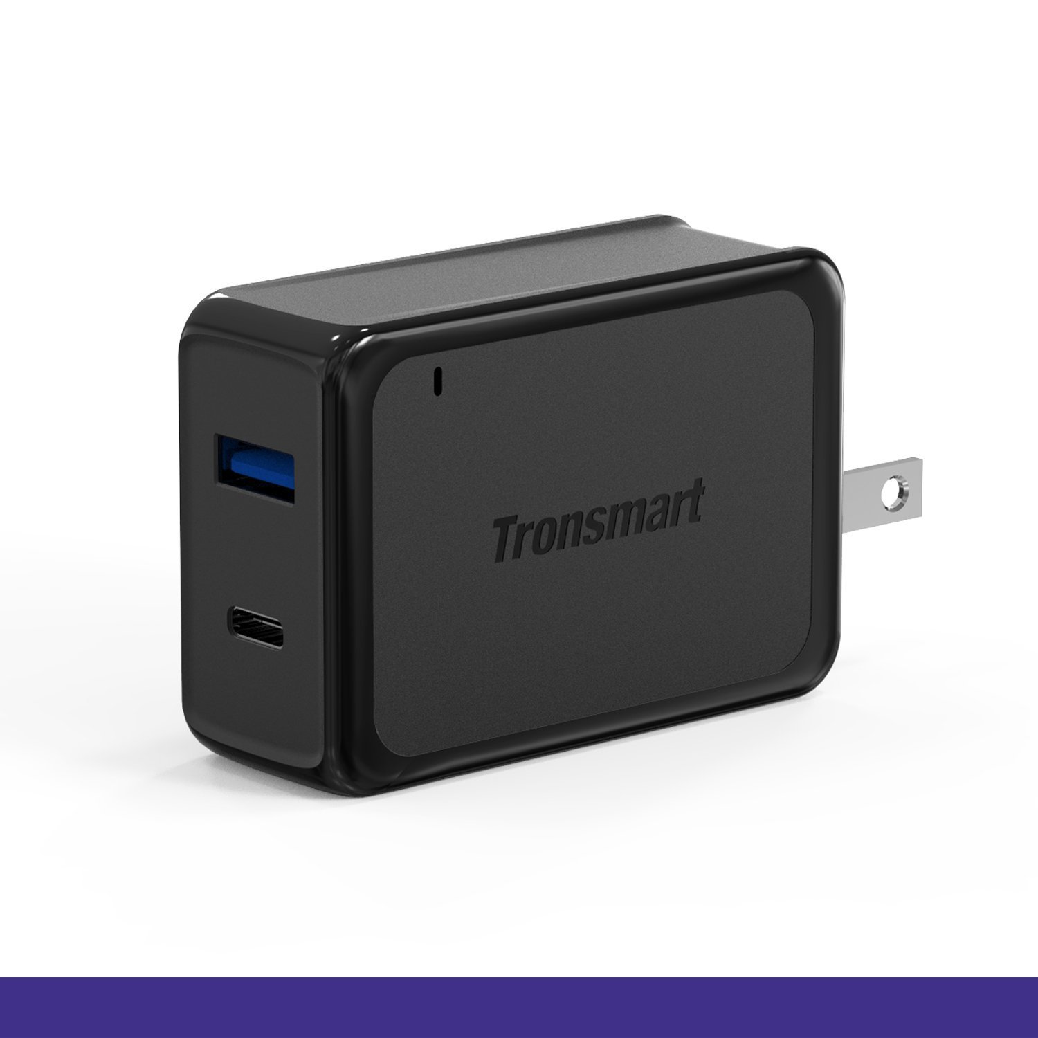 Tronsmart 33W Dual Ports Wall Charger with Type-C & USB support Quick Charge 3.0