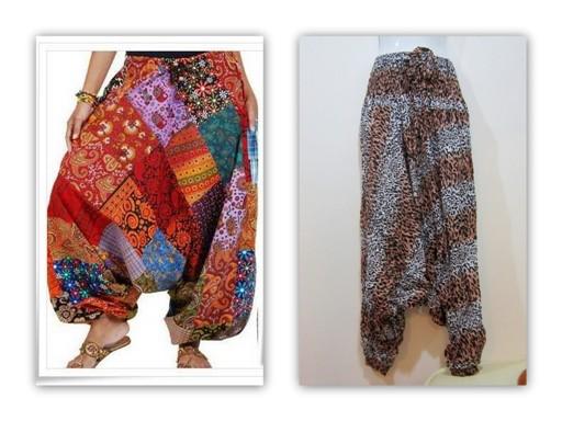 กางเกงไปเที่ยวทะเล กางเกงจินนี่ กางเกงแฟชั่น กางเกงขายาว เอวเป็นยางยืด ขาจั๊ม ลายเสือ ใส่สบาย (ใหม่ พร้อมส่ง) ladyshop4U