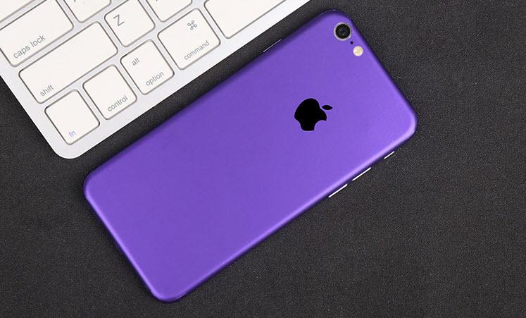 ฟิล์มหลังเครื่อง Iphone 6/6s (สีม่วง)