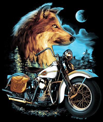 ลายสกรีนฮาฟโทนแนวจักรยานยนต์