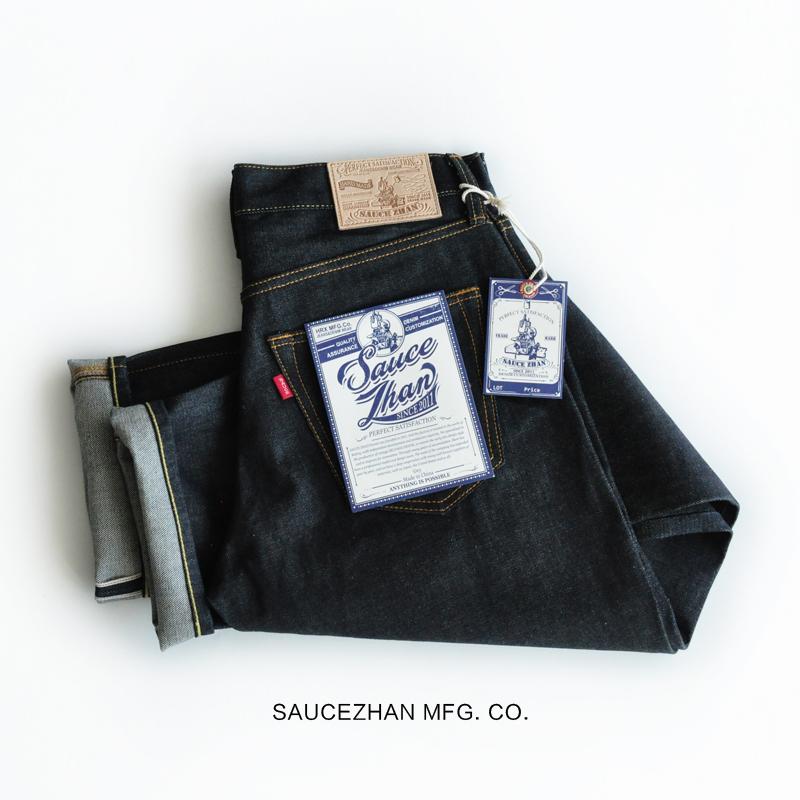 *Pre Order*กางเกงยีนส์ SAUCE ORIGIN Zipper 316XX Pants ผู้ชายญี่ปุ่น 14.5 oz. size W28-38